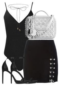 """""""Untitled #2318"""" by theeuropeancloset on Polyvore featuring Boohoo, Versus, Yves Saint Laurent, Chanel and Lilou"""