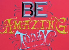 Be Amazing Today Original hand painted hand by aprilawakening, $115.00