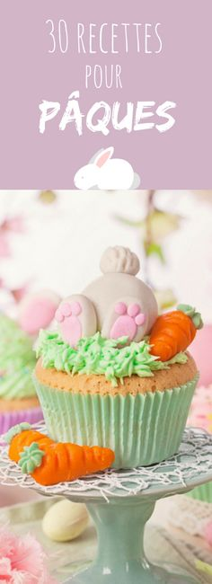 Cupcakes, Shortcakes, Buns: 30 original and easy recipes for Easter! Bunny Party, Easter Party, Biscuit Cookies, Cake Cookies, Cupcake Vintage, Biscuits, Easy Meals, Easy Recipes, Food Art