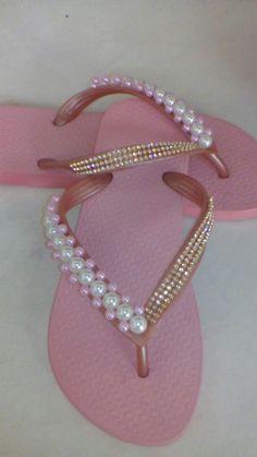 Flip Flops. Crochet Shoes, Crochet Slippers, Bridal Shoes, Wedding Shoes, Decorating Flip Flops, Flipflops, Beaded Shoes, Shoe Crafts, Bling Shoes