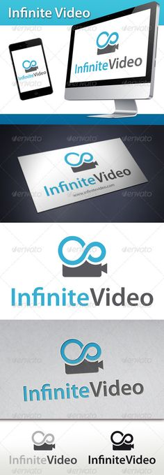 Infinite Video Logo #GraphicRiver - Three color version: color, greyscale and single color. - The logo is 100% resizable. - You can change text and colors very easy using the named and organized layers that includes the file. - The typography used is Myriad Pro a system default font. Created: 9September12 GraphicsFilesIncluded: VectorEPS #AIIllustrator Layered: Yes MinimumAdobeCSVersion: CS4 Resolution: Resizable Tags: agency #app #brand #business #chat #cinema #company #creative #creativity…
