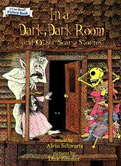Might be a little too scary for some, but I love the stories in this!  By Alvin Schwartz, Dirk Zimmer (Illustrator