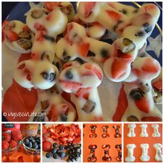 RWB Bone Snacks- real maple syrup to 1 cup yogurt mix in fruit and freeze in mold. Puppy Treats, Diy Dog Treats, Homemade Dog Treats, Dog Treat Recipes, Healthy Dog Treats, Dog Food Recipes, Candy Recipes, Holiday Recipes, Holiday Ideas