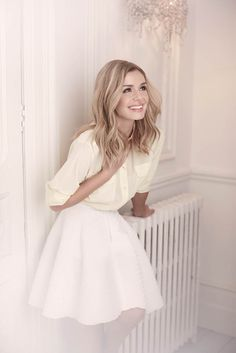 Feminine and pretty. Crossover, Female Celebrity Crush, Katherine Jenkins, The Most Beautiful Girl, Female Singers, Hair Today, My Idol, Evening Dresses, Hot Girls