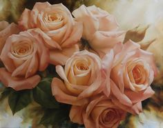 Peach Rose Splendor II, 2007г., 140X190, х/м, Размещено на сайте 20.05.2012, © Copyright 2012, худ. И.Е.Левашов, Арнем (Нидерланды)