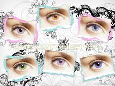 Kontaktlinsen weiche farbige Funlinsen ohne Stärke + Case neu eyecatcher-24