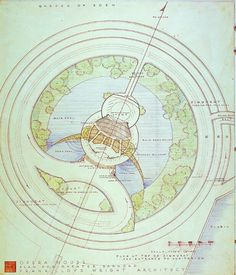 Frank Lloyd Wright. Plan for Greater Baghdad. Opera house