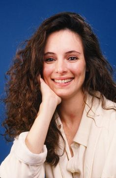 Actress Madeleine Stowe star of the film 'Stakeout' poses during a 1987 West Hollywood California photo portrait session to promote the film Stowe...
