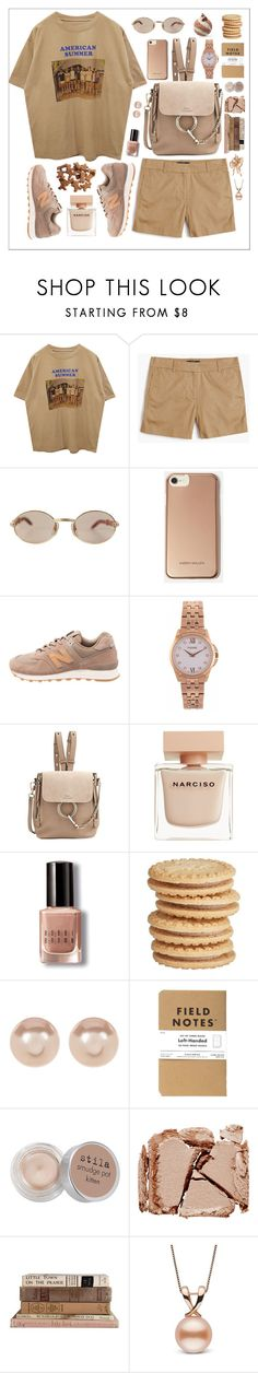 """American summer 🍪"" by ruchirich ❤ liked on Polyvore featuring J.Crew, Cartier, Karen Millen, New Balance, Pulsar, Chloé, Narciso Rodriguez, Bobbi Brown Cosmetics, Nordstrom Rack and Stila"