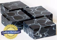 Charcoal Mint Dancing Funnel soap by Kapia Mera Soap Co.