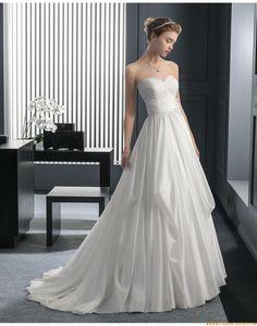 2015 A-linie Herz-ausschnitt Moderne Brautkleider aus Taft mit Applikation