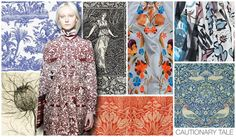 Original Art Surface Inspiration, Women's, F/W 2015-16, CAUTIONARY TALE / William Morris was our main source of inspiration when it came to womens Cautionary Tale graphics. Weve created three all over designs inspired by his great wallpapers and tapestries.