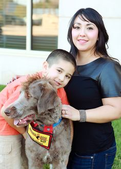 Moose the CASA Dog with his handler Amanda Lueras and Benji