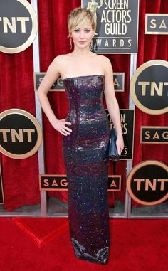 Jennifer Lawrence on the red carpet of the 20th Annual Screen Actors Guild Awards