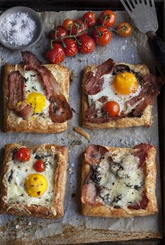 Bacon and egg breakfast pies by Samantha Linsell | DrizzleandDip.com