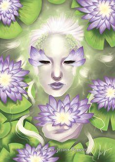 Lotus Nymph by Jessica-Prando.deviantart.com on @deviantART
