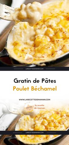 Béchamel Chicken Pasta Gratin - The Mama's Recipe - Cuisine - Pates Healthy Juice Recipes, Easy Smoothie Recipes, Healthy Juices, Healthy Chicken Recipes, Snack Recipes, Cooking Recipes, Cheesy Hashbrown Casserole, Recipe For Mom, Mom's Recipe