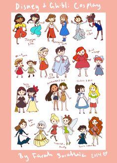 Disney And Ghibli Cosplay by Sweetichigo09.deviantart.com on @DeviantArt