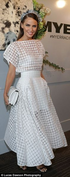 White is alright: Jodi Anasta showcased a stunning design by Toni Matičevski, which featur...