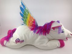 "Lisa Frank RARE Skye Pegasus Vintage 23"" Large Bean Bag Plush 05 | eBay I have one"
