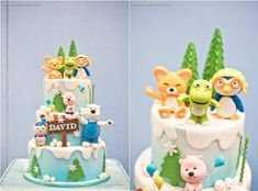 David's Pororo and Friends Themed Party – Birthday Winter Birthday Parties, Birthday Party Decorations, Party Themes, Themed Parties, Party Ideas, First Birthday Cakes, Baby Birthday, Friends Cake, Party Cakes