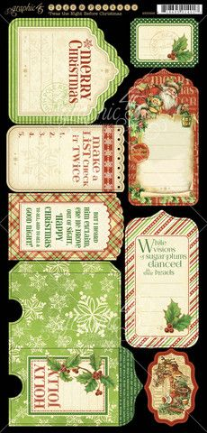 Graphic 45 Die-Cuts - 'Twas the Night Before Christmas - Tags & Pockets