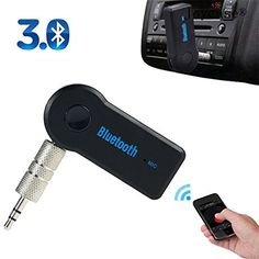 Mini Bluetooth Handsfree Car Kit Small Portable Wireless Bluetooth Receiver Speaker Streambot Audio Adapter 35 mm AUX Cord Music Adapter for HomeCar Audio Stereo System  not Transmitter  *** Details can be found by clicking on the image.Note:It is affiliate link to Amazon. #sanfrancisco