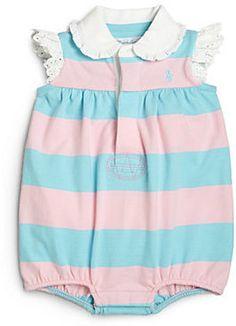 Ralph Lauren Infant's Striped Eyelet Shortall Original price: $29.50 - Sale price: $20.65
