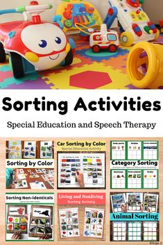 Sorting Activities for Autism Autism Activities, Sorting Activities, Therapy Activities, Therapy Ideas, Teacher Tools, Teacher Resources, Special Needs Resources, Special Education Classroom, Social Skills