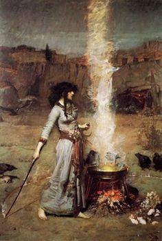 Circle of Magic, John William Waterhouse