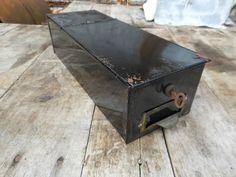 Industrial Vintage Bank Safe Deposit Box by RediscoveredRelics, $25.00