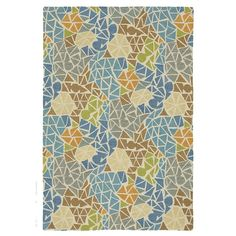 The sparkling, wave-tumbled shards of sea glass so prized by beachcombers are evoked in this colorful mosaic pattern. Prismatic triangles of color in tufted wool are set on a creamy textural ground of high-twist yarns. Lagoon mixes blue, aqua,...