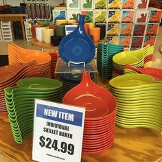"""""""Have you seen our new Individual Skillet Bakers?! Pretty cool, if we do say so ourselves. #fiestaware""""   Everything Fiesta Instagram"""