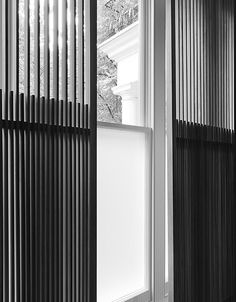 Detail of wooden louvres by Minus.