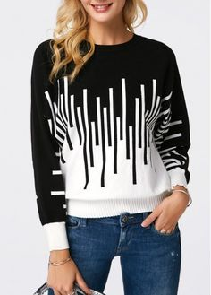 Buy Sweaters And Cardigans Online, Cardigan Sweaters For Women, Ladies Sweaters Cardigans Cardigan Sweaters For Women, Long Sleeve Sweater, Ladies Sweaters, Women's Sweaters, Color Block Sweater, Pullover, Modest Fashion, Stylish Outfits, Women's Jackets