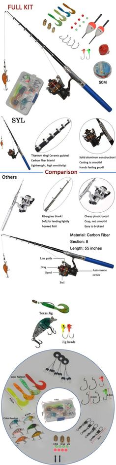 Other Rod and Reel Combos 179960: Carbon Fiber Pen Fishing Rods And Spinning Reel Combos Mini Pocket -> BUY IT NOW ONLY: $43.88 on eBay!
