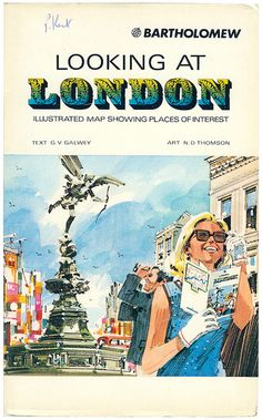 looking at london illustrated map