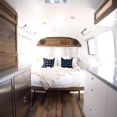 cool 50 Awesome Airstream Interiors for Your Trailers #bedroomrenovations