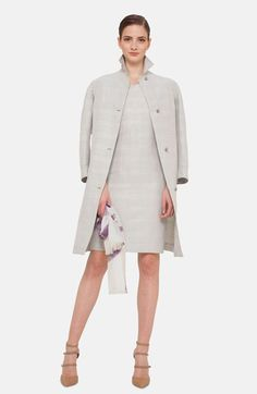 Akris Prince of Wales Hemp Silk Blend Coat available at #Nordstrom