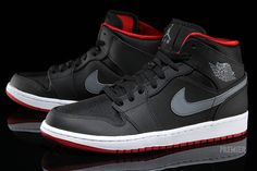 Air Jordan 1 Retro – Black / Cool Grey-Gym Red | Air 23