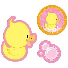 Small Duck Shaped Paper Cut Outs - Pink Ducky Duck - Girl Baby Shower and Birthday Die Cut Party Dec Baby Shower Duck, Rubber Ducky Baby Shower, Baby Girl Shower Themes, Ducky Duck, Do It Yourself Baby, 1st Birthday Girls, Birthday Ideas, Birthday Cards, Cut Outs