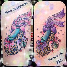 https://www.facebook.com/VorssaInk/, http://tattoosbykata.blogspot.com, #tattoo #tatuointi #katapuupponen #vorssaink #forssa #finland #traditionaltattoo #suomi #oldschool #pinup #heels