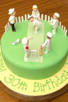 Inspiration for a Cricket Cake and Cupcakes, Novelty Cakes. www.sweetsecretsdubai.com Cricket Birthday Cake, Cricket Theme Cake, Birthday Cakes For Men, Happy Birthday, Dad Cake, Novelty Cakes, Party Treats, Celebration Cakes, Cakes And More
