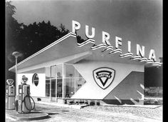 """Known as the most """"demolished"""" architect from the Netherlands. Sybold van Ravesteijn designed several gas stations like this one in Arnhem, still exists, now used as an office"""