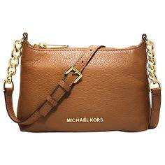 Buy MICHAEL Michael Kors Bedford Leather Chain Strap Across Body Handbag Online at johnlewis.com