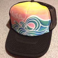 Seas the Day hand painted trucker hat by JulesJewelsJewelry