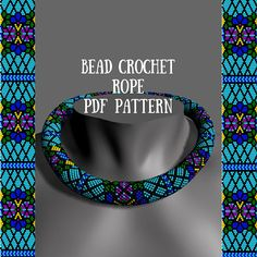 Bead crochet necklace pattern Bead crochet pattern DIY bead pattern Handmade necklace Beaded rope patterns Beadwork patterns PDFs beaded This is a listing of a bead crochet necklace PDF-PATTERN. Here are 20 beads in a round. After purchase you will be able to download PDF-file,