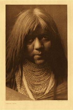 "Hwalya - Yuma, 1907. Photogravure. Curtis Caption: ""A Yuma girl, characteristic of southern Yuman maidenhood."""