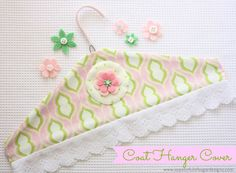 Coat Hanger Cover {Tutorial} | A Spoonful of Sugar