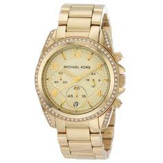 Michael Kors Women's MK5166 Blair Gold-Tone Stainless Steel Chronograph Watch | Overstock.com Shopping - Big Discounts on Michael Kors Women's Michael Kors Watches